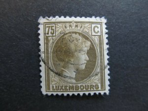 A4P27F70 Letzebuerg Luxembourg 1926-35 75c used