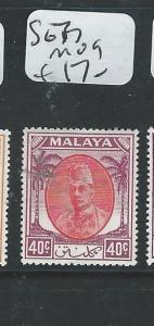 MALAYA KELANTAN (P2702B) SULTAN  40C SG 77  MOG