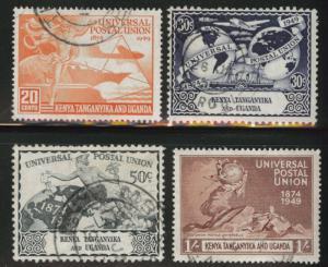Kenya Uganda and Tanganyika KUT Scott 94-97 Used 1949 UPU set