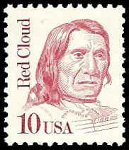 PCBstamps    US #2175a 10c Red Cloud, overall tagged, MNH, (6)