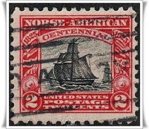SC#620 2¢ Norse-American Issue (1925) Used