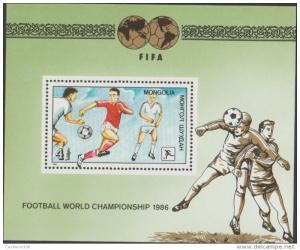 O) 1986 MONGOLIA, FIFA, FOOTBALL WORLD CHAMPIONSHIP, SOUVENI