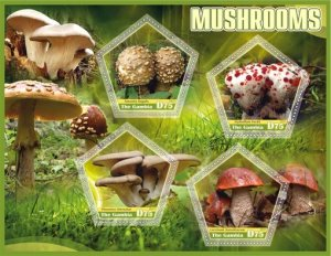 Stamps.Plants Mushrooms Set 2 sheet perforated