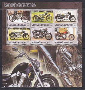 Guinea-Bissau MNH S/S Motorcycles 2005