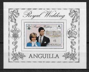 ANGUILLA 1981 SG MS467 Royal Wedding $5 Mini Sheet MINT MNH