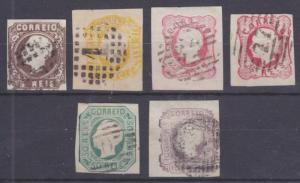 Portugal Sc 12-16 used 1862-1864 King Luiz Embossed Definitives cplt + Shade