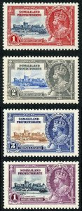 Somaliland SG86/9 1935 Silver Jubilee Very lightly m/m