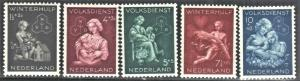 NETHERLANDS SC# B149-153  SEMI POSTAL SEE SCAN
