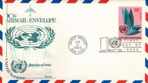 U.N. # UC8, Fleetwood Cachet, Unaddressed, 1st Day Cover
