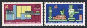 Germany-GDR 811-812,MNH.Michel 1159-1160. Leipzig Spring Fair,1966.Computer,