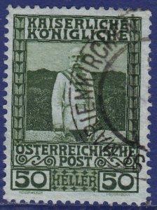 Austria - 1908 - Scott #121 - used - ST. MARIENKIRCHEN pmk