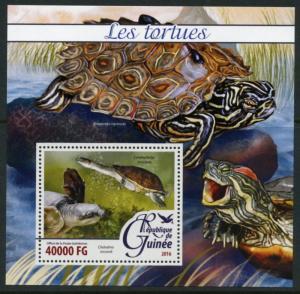 GUINEA 2016 TURTLES  SOUVENIR SHEET MINT NH