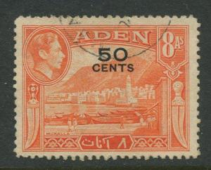 STAMP STATION PERTH Aden #41 - KGVI Definitive Overprint 1951 Used CV$0.50.