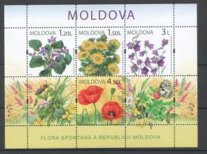 Moldova 2009 Flowers MNH Sheet