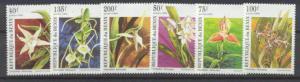Benin 795-800 MNH Flowers SCV3.80