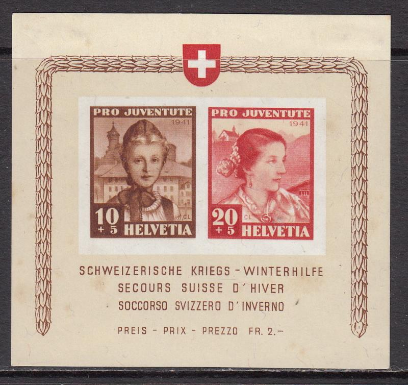 Switzerland, 116, unused hinged, foxing spots on back, CV$ 60.00
