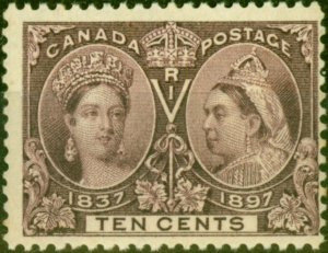 Canada 1897 10c Purple SG131 Fine Mtd Mint