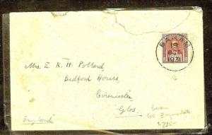 SARAWAK (P1106B) 1931 6C EMPIRE RATE BARAM TO ENGLAND FAMILY POLLARD!!!!