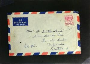 Malaya 1948 Cover to Scotland - Z2246