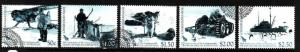 Ross Dependency-Sc#L99-103-used set-Antarctic-Trans-Atlantic Expedition-2007-