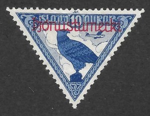 Doyle's_Stamps: Iceland Scott #CO1* Official Airmail Issue of 1930