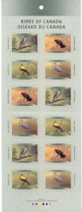 Canada - 1999 Birds of Canada Complete Booklet #BK218a Glued Flap