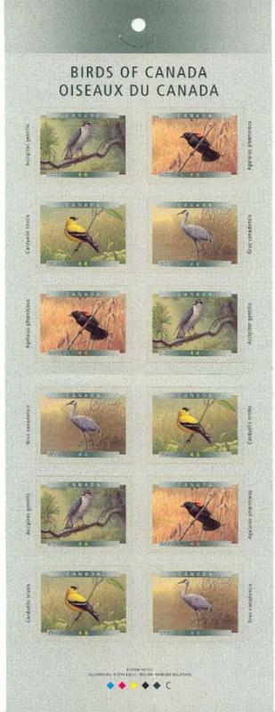 Canada - 1999 Birds of Canada Complete Booklet #BK218b