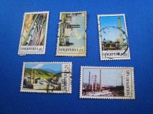 ALBANIA 1970-71 - SCOTT #  1327A-1327E   Used