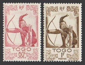Togo 312-313,MNH.Michel 198-199. Hunter,1947.