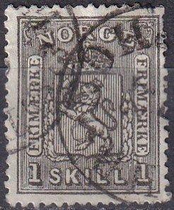 Norway #11  F-VF  Used  CV $55.00  (Z7993)