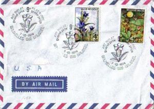 Belgium, Stamp Collecting, Flowers