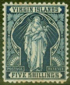Virgin Islands 1899 5s Indigo SG50 Good Mtd Mint