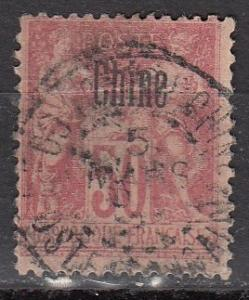 France Off China 9 Cer 11 Used Fine 1894 SCV $17.50