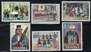 Andorra Spanish 69-74 MNH cv $4.30  BIN $2.50
