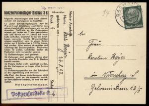 3rd Reich Germany 1938 Concentration Camp KL Dachau R7 Cover 91655