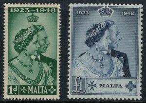 Malta #223-4*  CV $40.55