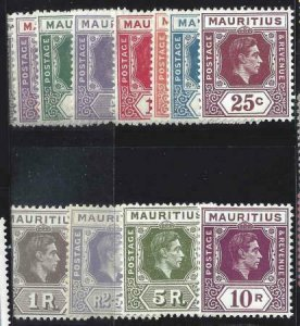 Mauritius 1938-1943 SC 211-222 MLH Set