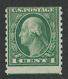 443 Unused, 1c. Washington, Coil Single, scv: $30