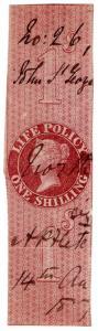 (I.B) QV Revenue : Life Policy 1/- (1869)
