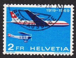Switzerland Scott 499 VF used. Key issue.