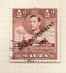 Malta 1947 Self Government Early Issue Fine Used 1/2d. Optd 293002