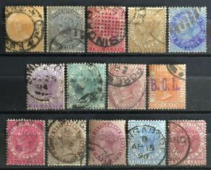 Malaya Straits Settlements 1882-99 QV 14V CA Used (see images) M2051
