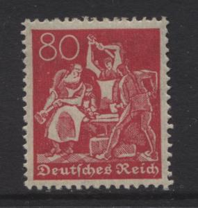 GERMANY. -Scott 145 - Definitives -1921 -MLH - Carmine Rose -Single 80pf Stamp
