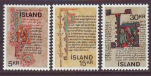 Iceland Sc 417-9 1970 Manuscripts stamps mint NH