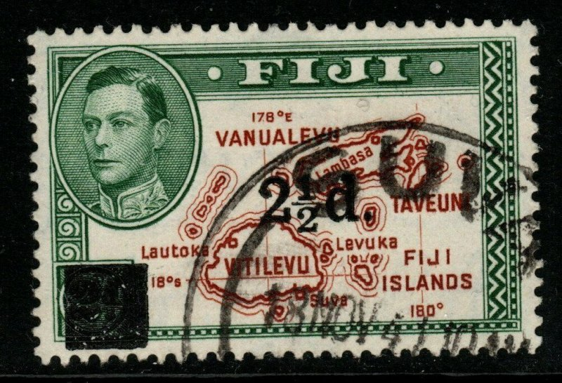 FIJI SG267 1941 2½d on 2d BROWN & GREEN FINE USED