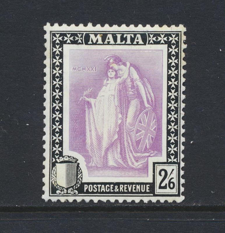 MALTA 1922 10sh, VF LH SG#138 CAT£65 $90 (SEE BELOW)