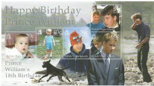British Virgin Islands #929 PrinceWilliam S/Sheet of 5 (MNH)