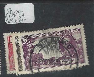 SOUTHERN RHODESIA  (P2903BB) KGV SILVER JUBILEE SG  31-2, 34     VFU