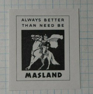 Masland Always Better Than Need Be Insurance Co Poster Stamp Ad