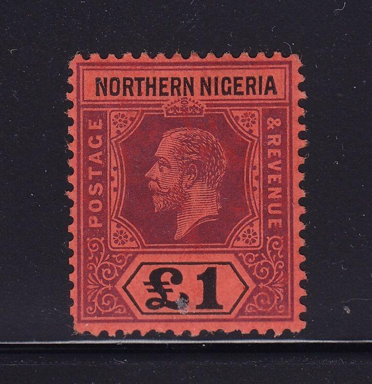 North Nigeria Scott # 52 VF OG lightly hinged nice color scv $ 200 ! see pic !